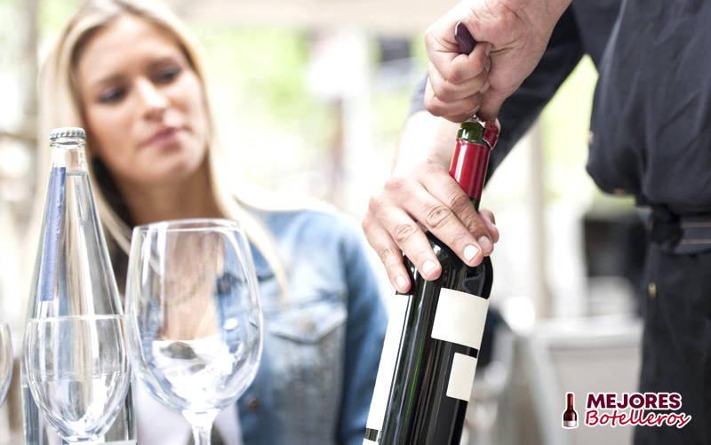 abrir botella de vino
