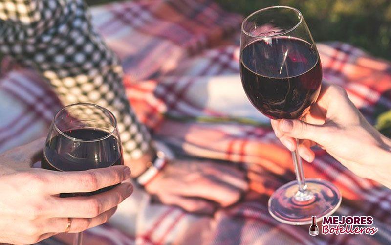 sujetar una copa de vino correctamente
